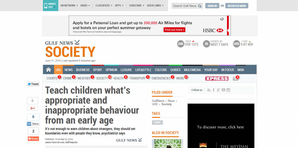 Teach children whats appropriate and inappropriate behaviour from an early age